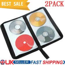 More details for 2 x 80 disc cd vcd dvd carry bag car storage holder case wallet organizer black