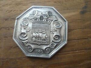 Jeton ancien ancien 1846 argent massif PARIS 12,4 Grs