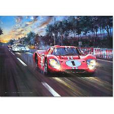 GT40 Le Mans 1967 Winner All American Victory Signed Dan Gurney Watts LTD Print