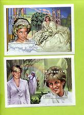 Free Shipping Mongolia Princess Diana, Mother Theresa 2 Pieces Block Stamps