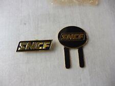 Lot de 2 insignes à veste et casquette, SNCF