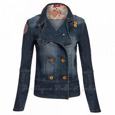 Markenlose Damen-Jeansjacken mit Knöpfen