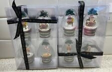 Christopher Radko Snow Globe Place Card Holders Set of 4 New - 2 Sets Included