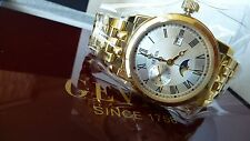 Gevril Men's Cortland 2528 Gold plated date and moonphase NEW EXCELLENT