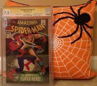 AMAZING SPIDER-MAN: #42 CGC 7.5 SS STAN LEE; ROMITA MARY JANE 59 RHINO 39 40 41