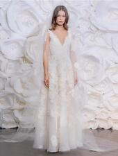 AUTHENTIC Naeem Khan Spain FB197 Ivory Lace NEW Wedding Dress 10 RETURN POLICY