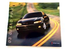 2003 Pontiac Grand Prix 32-page Car Sales Brochure Catalog Book - SE, GT, GTP