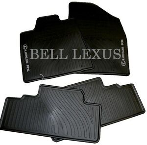 LEXUS OEM FACTORY ALL WEATHER FLOOR MAT SET 2010-2012 RX350 & RX450H BLACK