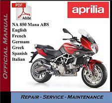 Aprilia NA 850 Mana ABS Workshop Service Repair Manual