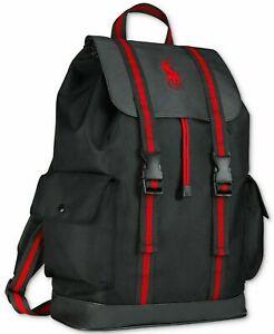 RALPH LAUREN Black and Red Backpack / Rucksack / Gym Bag / College