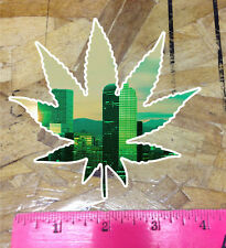 CO Denver Skyline photo marijuana cannabis weed leaf 420 sticker decal