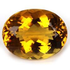 UNUSUAL 16.5x14mm OVAL-FACET NATURAL AFRICAN GOLDEN CITRINE GEMSTONE (APP £176)