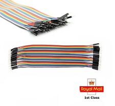 Male to Male  jumper wire cable 20cm 40pcs Dupont  Pi Arduino Breadboard NEW