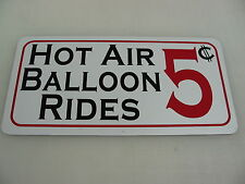 HOT AIR BALLON RIDES Metal Sign Fair Carnival Amusement Park Boardwalk Circus