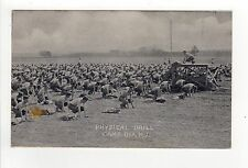 Camp Dix Fort Dix New Jersey Physical Drill Military Us Army War Pc Postcard Nj