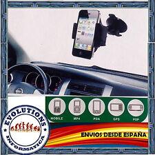 SOPORTE UNIVERSAL PARABRISAS VENTOSA COCHE MOVIL MP4 PDA GPS PSP GALAXY S2 S3 LG