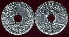 FRANCE 10 centimes  LINDAUER .1938 . points avant et aprés la date SPL    (bis)