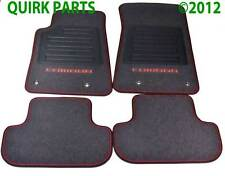 2010-2015 Chevrolet Camaro Front & Rear Premium Carpet Floor Mats Black OEM NEW