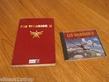 Air Warrior ll 2 gateway to multiplayer on line combat with book game RARE