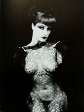 """Irina Ionesco montado Impresión de fotografía 16 X 12"""" 1975 Gótico Desnuda Erotica lesbiana II11"""