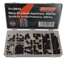 Tool Hub 9844 Grub Screw Assortment 200pc Black Metric M4-M10