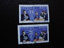 SUEDE - timbre yvert et tellier n° 2058 x2 obl (A29) stamp sweden (A)