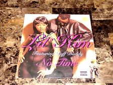 "Puff Daddy & Lil' Kim Rare Authentic Hand Signed 12"" Vinyl Record No Time + COA"
