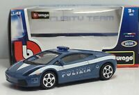 LAMBORGHINI GALLARDO POLIZIA SECURITY TEAM BBURAGO MODELLINO DIE CAST 1/43 NUOV