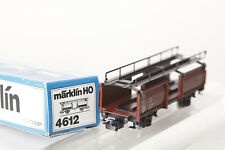 Märklin H0 4612 Car Carrying Wagon 433 2 001-7 Cast Brown Boxed (76886)