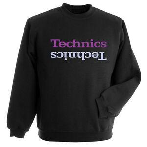 DMC Technics Limited Edition Sweatshirt Black - Purple Printed Logo S-XXL