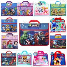 Kids Character Book Bag Children Back to School Boys Girls Reading Bags Satchel