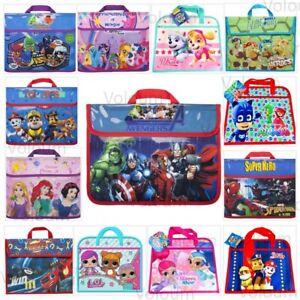 Kids Character Book Bag Children Back to School Boys Girls Reading Bags Satchel