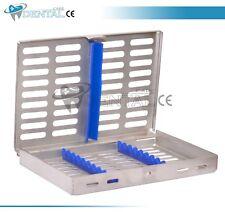 Dental Sterilization Cassette Rack Trays for 10 Instruments Dental Implant Tool