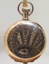 1889 ELGIN NATIONAL WATCH Co 6s Hunting Case Pocket Watch, Runs good