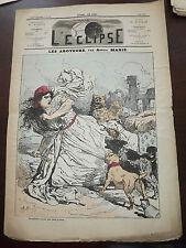 L'ECLIPSE,N°140 journal du /06/1871,( les aboyeurs )  par adrien marie