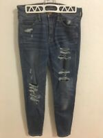 American Eagle Womens Super Stretch Hi Rise Jegging Jeans Size 4 Distressed
