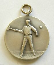 h091 Romania 1930's Tennis Contest Sports award prize man silered medal