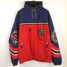 VTG Bogner Mens Size 44 Snow Ski Jacket Red White Blue Zip Front Embroidered