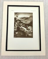 1927 Antique Print St Jerome Hieronymus Bosch Dutch Old Master Painting RARE