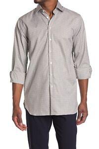 BNWT THOMAS PINK Journey Check Print Long Sleeve Shirt Size 15 MSRP $185!!