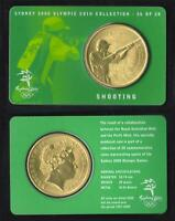 SYDNEY 2000 OLYMPIC COIN COLLECTION SHOOTING - REAL $5 AUSTRALIAN COIN