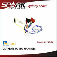 AD for CLARION TO ISO HARNESS wiring cable loom adapter 2017 APP8CLA4