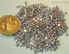 48 x Swarovski 9ss / 19pp Crystal AB diamanté silver-foiled chatons