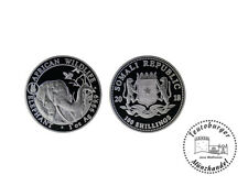 Somalia 100 Shilling 1 oz 999 Silber 2018  Elefant *Privy Hund* Stempelglanz *