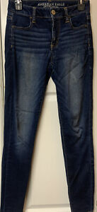 American Eagle Womens Size 2 Jeans Super Hi-Rise Jegging Distressed