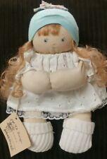 "Jan Shackelford Cloth doll Young'un Series Girl red hair blue eyes org tag 11"""
