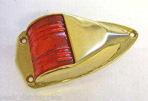 Navigation Side lamp RED low profile 12v choose BRASS or CHROME SLR01B or SLR01C