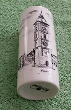 Enns Austria Flower Vase Pencil Holder Ceramic Clock Tower Schiske
