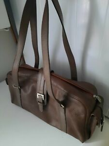 Genuine Longchamp Brown Fine Leather Medium-Sized Shoulder Baguette Bag - BNWOT