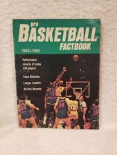 RARE 1973-74 Pro Basketball Factbook GREEN COVER, Wilt Chamberlain Cover, NICE!!